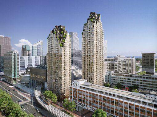 Nieuwbouw woontorens Grotius Den Haag